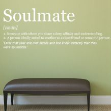 Personalised Soulmate  Wall sticker / decals